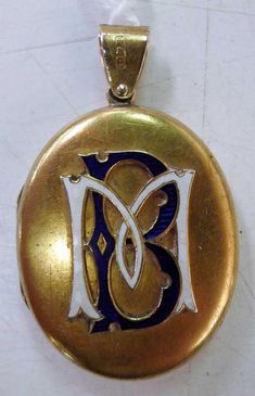 Antique gold locket by Kilpatrick  Co Melbourne, the enamel…