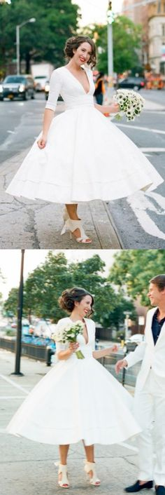 Wedding dresses Sleeves, V Neck Wedding dresses, Long Wedding Dresses, White Wedding Dresses, Long White dresses, White Long Dresses, V Neck dresses, Zipper Wedding Dresses, Ruffles Wedding Dresses, V-Neck Wedding Dresses, Sleeves Wedding Dresses