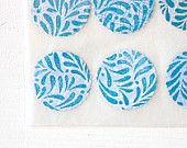 Stamped Upcycled Security Envelope Stickers . Envelope Seals