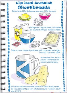 The Real Scottish Shortbread / Tambouille My Recipes, Sweet Recipes, Cooking Recipes, Favorite Recipes, Shortbread, Biscuits, Food Cartoon, No Cook Desserts, Food Drawing