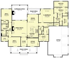 COOL house plans offers a unique variety of professionally designed home plans with floor plans by accredited home designers. Styles include country house plans, colonial, Victorian, European, and ranch. Blueprints for small to luxury home styles. Southern House Plans, New House Plans, Dream House Plans, House Floor Plans, Dream Houses, Brick House Plans, French Country House Plans, Log Houses, Southern Homes