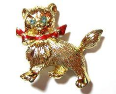 Vintage Cat Pin