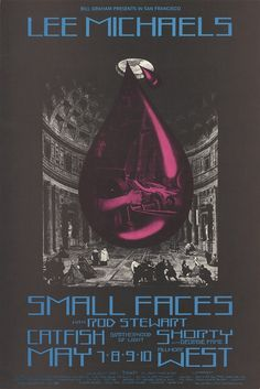 Lee Michaels, Small Faces with Rod Stewart, Catfish, Shorty with Georgie Fame - Lights by Brotherhood of Light - Bill Graham Presents in San...