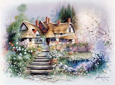Andres Orpinas. Cottage with pond