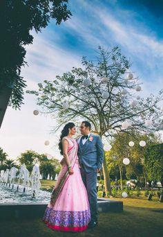 Wed Me Good Pink Bridal Lehenga, Pink Lehenga, Engagement Saree, Engagement Couple, Engagement Shoots, Indian Dresses, Indian Outfits, Indian Clothes, Indian Look