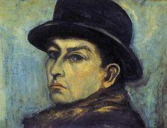 #ORBÁN_DEZSŐ - Autorretrato. Paul Cezanne, Henri Matisse, Post Impressionism, Paintings, Portrait, Gallery, Art, Expressionism, Exhibitions