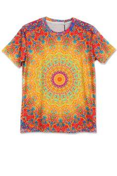 AdoreWe - oasap Dizzying Circle Short Sleeve Tee - AdoreWe.com