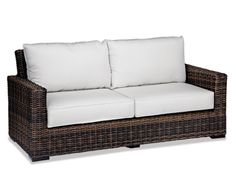 Thos. Baker Hampton Java Wicker Cushion Outdoor Sofa