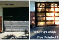 Refinished garage doors