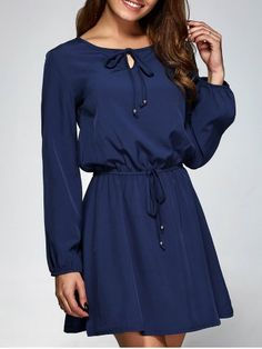 GET $50 NOW | Join RoseGal: Get YOUR $50 NOW!http://www.rosegal.com/long-sleeve-dresses/long-sleeve-a-line-dress-743979.html?seid=7610384rg743979