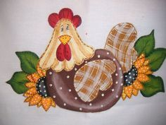 And a florist Baby Patchwork Quilt, Applique Quilts, Crochet Square Patterns, Quilt Block Patterns, Tole Painting, Fabric Painting, Chicken Wallpaper, Chicken Clip Art, Sennelier Oil Pastels