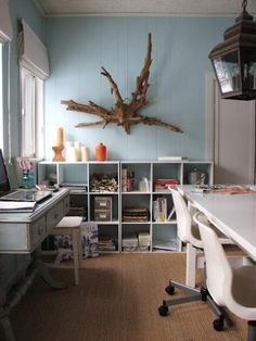Decorating with driftwood makes quite a statement piece.