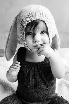 2015 Newest Autumn Ins Oeuf Nyc Baby Boys Girl's Cap Lovely Rabbit Long Ear Hats Knitted Crochet Headgear Soft Warm
