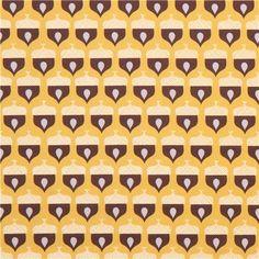 yellow monaluna acorn forest tree organic fabric Acorn