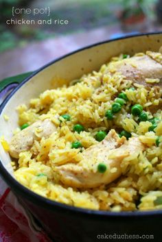 one pot chicken and rice.