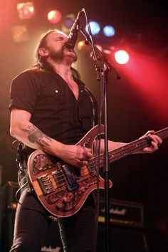 Lemmy: the frontman, vocalist and bassist of the legendary British Heavy Metal band, Motörhead.