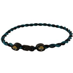 Jacksonville Jaguars Twist Titanium Sport 21'' Necklace