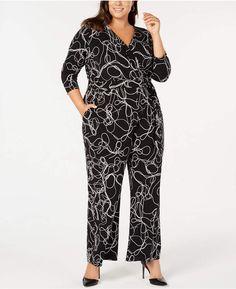 73aba4eb86b9 Alfani Plus Size Printed Jumpsuit