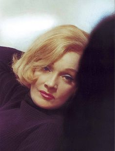 Marlene Dietrich, a beautiful color photo of her!