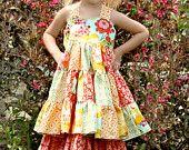 Tiffany's Sweetheart Patchwork Twirl Dress PDF Pattern NEW sizes 6-12 months to size 8