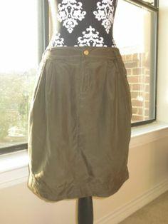 Banana Republic Green Silk Skirt Size 2 | eBay