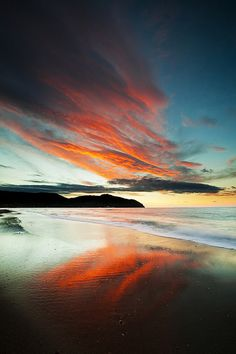 Tuscany Italy pictures: Baratti beach winter sunset