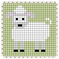 Crochet Animal charts and written colour changes Intarsia Knitting, Knitting Charts, Baby Knitting Patterns, Knitting Stitches, Crochet Patterns, Pixel Crochet, Crochet Chart, Cross Stitch Designs, Cross Stitch Patterns