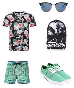 """""""Pier"""" by snipplesnapple ❤ liked on Polyvore featuring Yves Saint Laurent, Superdry, Polo Ralph Lauren, men's fashion and menswear"""