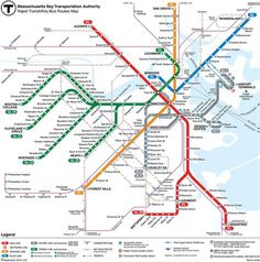 Map of downtown sightseeing in Boston maps Pinterest Vacation