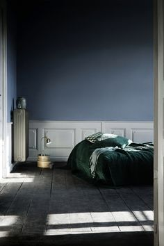 slate blue colour to compliment greyscale bedroom