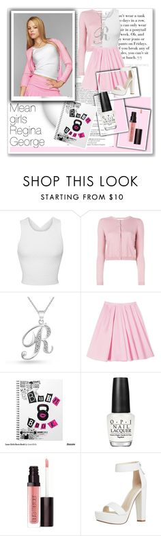 """Mean Girls: Regina George"" by taylah-newcombe ❤ liked on Polyvore featuring GRETCHEN, Oris, Balmain, George, Jonathan Simkhai, RED Valentino, Bling Jewelry, Carven, OPI and Laura Mercier"