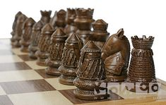 CHESS ♜ Diy Chess Set, Chess Set Unique, Chess Sets, Chess Pieces, Game Pieces, Dragon Chess, Chess Moves, How To Play Chess, Wood Crafts