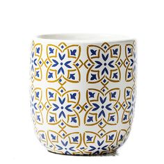 The Tangier Planter with it's Moroccan tile inspired design, provides a hint of the exotic right in your own home