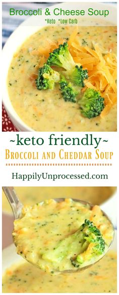 LOW CARB Broccoli & Cheddar Cheese Soup (Keto Friendly) #soup #lowcarb #keto