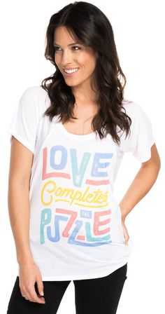 """""""Love Completes The Puzzle"""" // Check out this adorable flowy raglan that supports Autism Speaks! Perfect for a beach day. #Sevenly"""