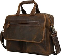 Iswee Cowhide Leather Messenger Satchel bags Shoulder 16'' Laptop Briefcase Tote Bag for Men * Insider's special review you can't miss. Read more  : Christmas Luggage and Travel Gear
