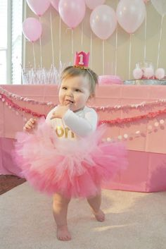 Fawn Over Baby: Harper's Pink Ombre 1st Birthday Party By Jessica From Little BabyGarvin