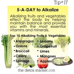 5-a-day to alkalize!