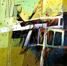 """<p><b>Gaza Effect</b>     <br />48"""" x 48"""", oil on canvas, 2014</p>"""