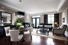 Jane Lockhart Condo Living/Dining room modern living room