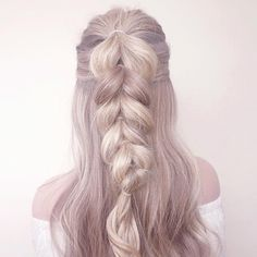 Half Up, Pull Through, Dutch Braid See this Instagram photo by @catherine.mw • 1,079 likes