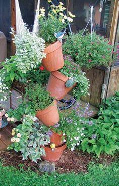 Tipsy Clay Pots
