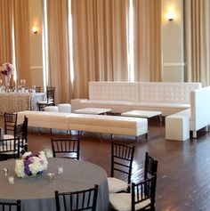 Windsor banquettes, Windsor benches, Soho coffee tables, and small round ottomans.