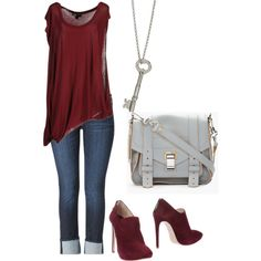 """""""maroon"""" by straight-arow on Polyvore"""