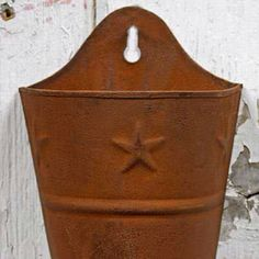 Rustic star wall mounted planter Wall Mounted Planters, Star Wall, Rustic, Garden, Inspiration, Home, Country Primitive, Biblical Inspiration, Garten