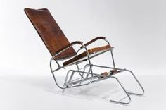 """Rocking Chair """"Vintage Leather"""" from Alexander & Pearl via Press Loft France"""