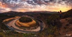 Fotografiando al Meandro Melero - Fotografiando al Meandro Melero. Fotografía panorámica formada por 6 fotografías verticales