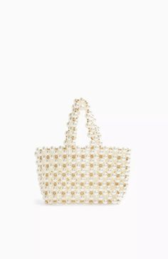 We are obsessed with the pretty pearl trend. This exaggerated pearl grab bag is such a feminine and ladylike accessory to Plastic. Beautiful Handbags, Grab Bags, Straw Bag, Bag Accessories, Asos, Topshop, Pearls, Wallet, Women