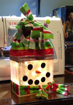 snowman glass block. I have a page on Facebook. It's called Blocks By Brooke…