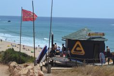 Learning to surf in Lagos, Portugal